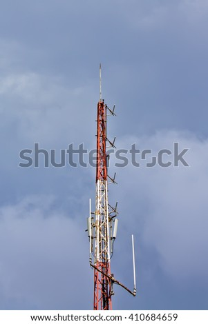 gsm antenna - stock photo