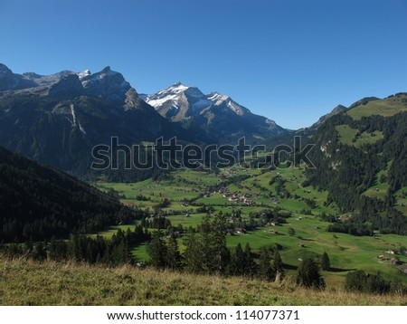 Gsteig Bei Gstaad In The Late Summer - stock photo