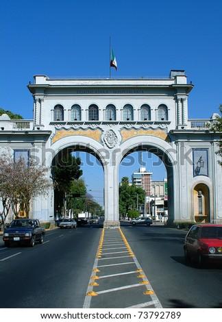Guadalajara arches day - stock photo