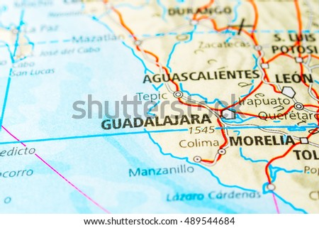 guadalajara mexico map view