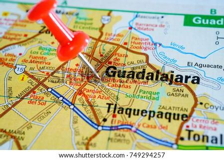 guadalajara mexico on the map