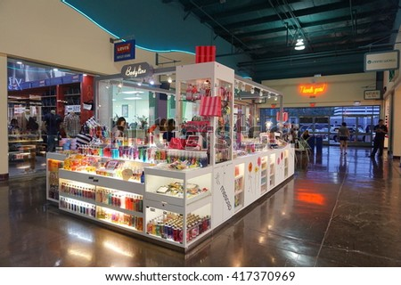 GUAM - OCTOBER 12, 2015: View of GUAM Premier outlets, Shopping Mall in GUAM