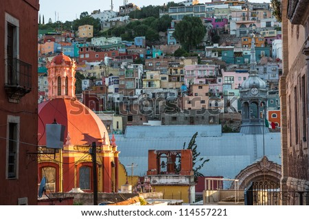 Guanajuato Town in Mexico - stock photo