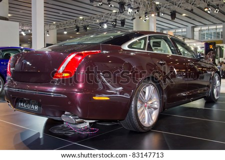GUANGZHOU, CHINA - DEC 27: A Jaguar car on display at the 8th China international automobile exhibition on December 27, 2010 in Guangzhou China.