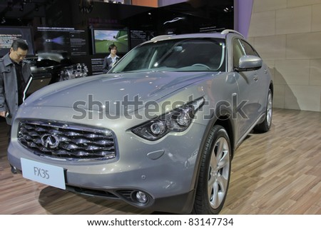 GUANGZHOU, CHINA - DEC 27: An Infiniti FX35 car on display at the 8th China international automobile exhibition on December 27, 2010 in Guangzhou China.