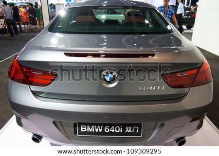 GUANGZHOU, CHINA - JUL 29: BMW 640i car on 2012 Guangzhou Imported Luxury Automobile Exhibition,on July 29, 2012 in Guangzhou China,This is a large international car exhibition