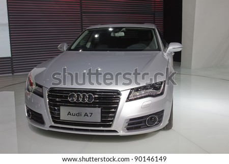 GUANGZHOU, CHINA   NOV 26: Audi A7 Car On Display At The 9th China