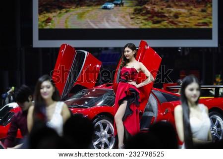 GUANGZHOU, CHINA - NOV. 21. 2014: GTA Saleen car on the 12th China International Automobile Exhibition in Guangzhou, Guangdong province. - stock photo