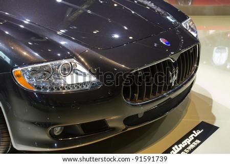 GUANGZHOU, CHINA   NOV 26: Maserati Quattroporte Sports Car On Display At  The 9th