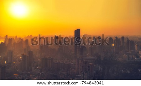 Guangzhou City Sunset