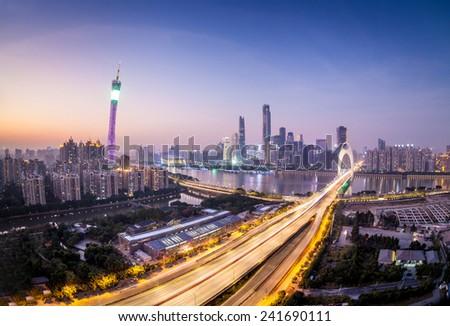 Guangzhou Cityscape - stock photo