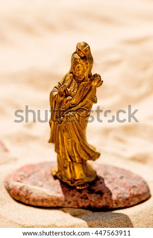 Guanyin, goddess of mercy - stock photo