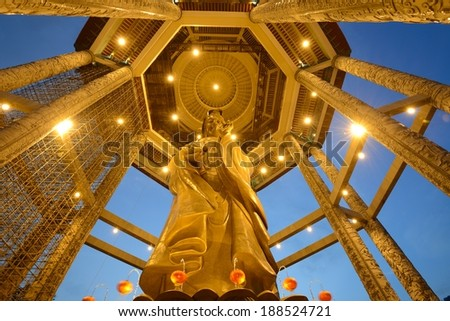 Guanyin statue during chinese new year - stock photo