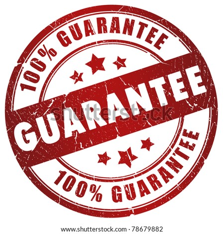 Guarantee grunge stamp - stock photo