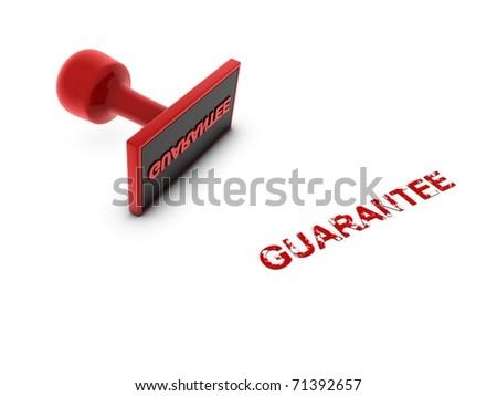 guarantee stamp - stock photo