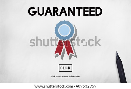 Guaranteed Warranty Quality Safety Service Concept - stock photo