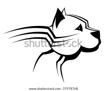 Guard dog as a symbol or emblem - abstract emblem or template. Vector version also available