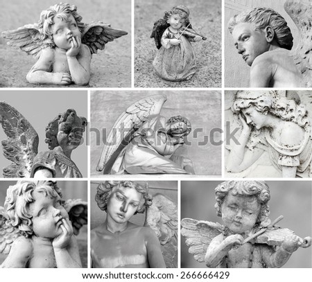 guardian angels collection - stock photo