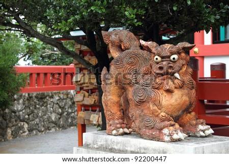Guardian statue in Okinawa, Japan - stock photo