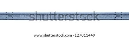 guarding rail isolated on white back - stock photo