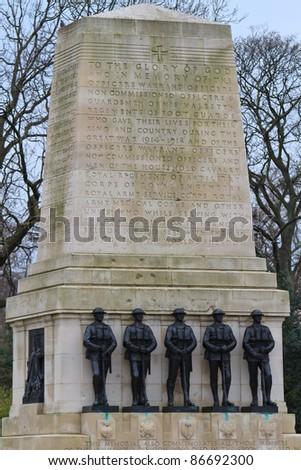 Guards War Memorial, Horse Guards Parade, London. UK - stock photo