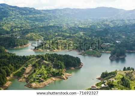 Guatape Lake, Colombia - stock photo