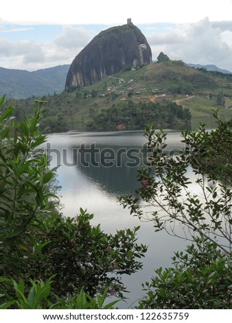 Guatape rock, Antioquia (Colombia) - stock photo