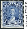 GUATEMALA - CIRCA 1926: A stamp printed in the Guatemala, shows Justo Rufino Barrios, circa 1926 - stock photo