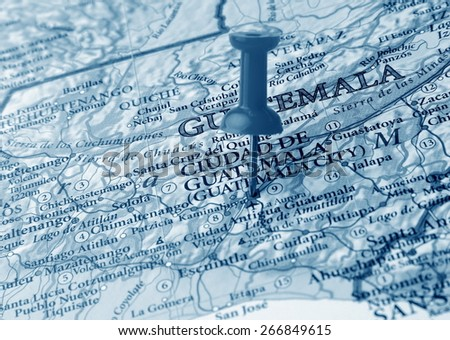 Guatemala  destination in the map - stock photo