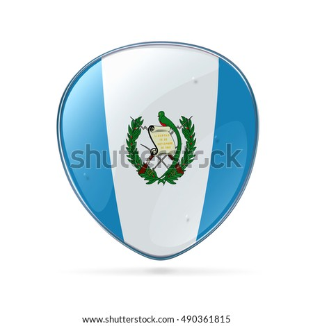 Guatemala Flag icon, isolated on white background.