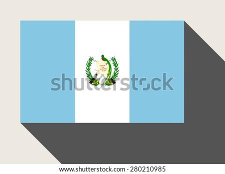 Guatemala flag in flat web design style. - stock photo