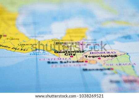 Guatemala On Map Stock Photo (Royalty Free) 1038269521 - Shutterstock