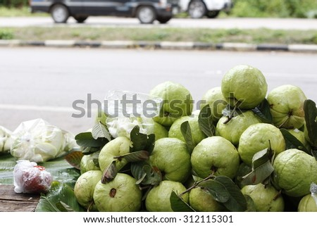 guava for sell - stock photo