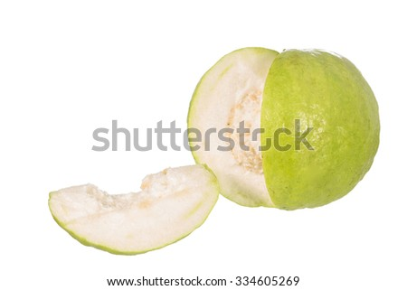 guava fruit isolated on white
