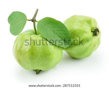 guava fruit isolated on white background,Clipping Path
