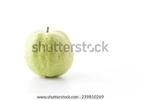 guava isolated on white background - stock photo