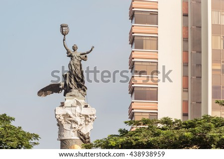 Guayaquil, Ecuador - Aprikl 17, 2016: Monument to the Ecuador independence heroes in Guayaquil
