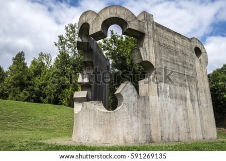 Chillida stock images royalty free images vectors shutterstock - La casa del parque ...