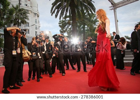 Guest attends the Premiere of 'Irrational Man' during the 68th annual Cannes Film Festival on May 15, 2015 in Cannes, France. - stock photo