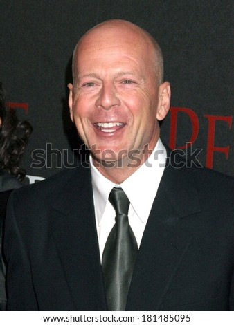 guest, Bruce Willis at PERFECT STRANGER Premiere, Ziegfeld Theatre, New York, NY, April 10, 2007 - stock photo
