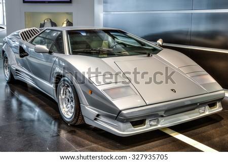 Guglielmo Marconi Airport Bologna Italy August   Vintage Luxury Lamborghini