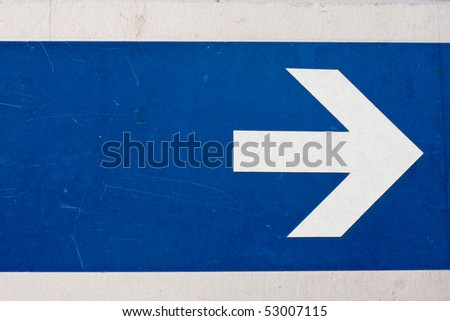 guide post right - stock photo
