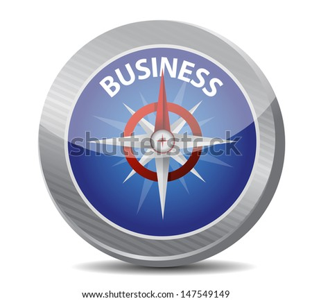 guide to great business. compass illustration design over a white background