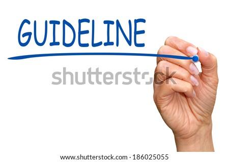 Guideline - stock photo