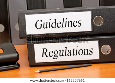 Guidelines and Regulations - stock photo