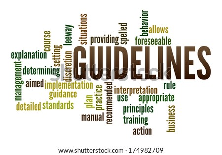 Guidelines in word collage - stock photo