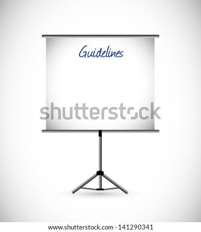 guidelines presentation illustration design over a white background - stock photo
