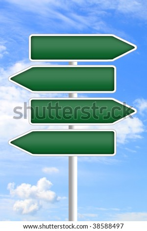 Guidepost - stock photo