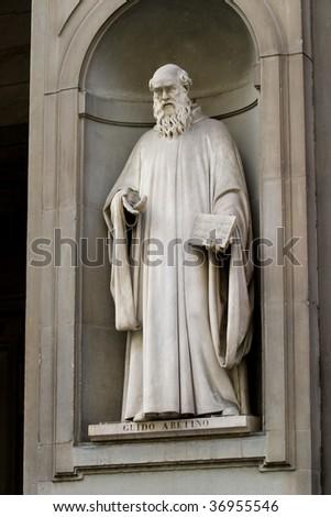 Guido Aretino Statue - stock photo