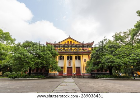 GUILIN, CHINA - MAY 02, 2015: Resting Palace of Jingjiang Prince City in Guilin, China. It now functions as both Guangxi Normal University and as a tourist attraction. - stock photo